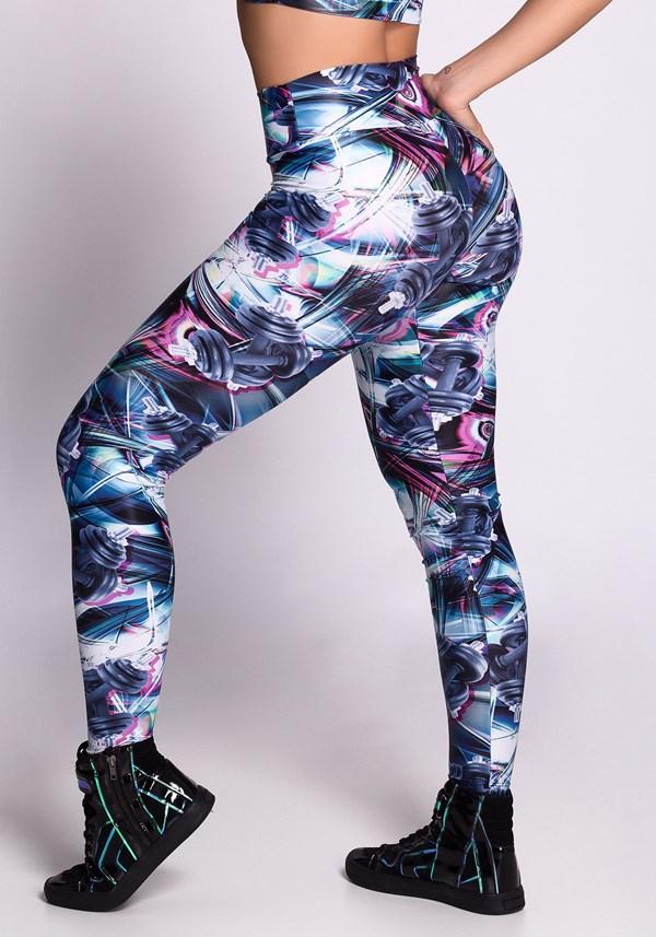 Calça legging poliamida glow muscles
