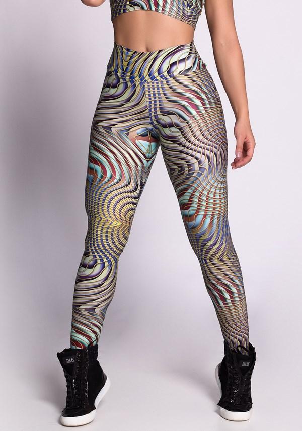 Calça legging poliamida glow spiral