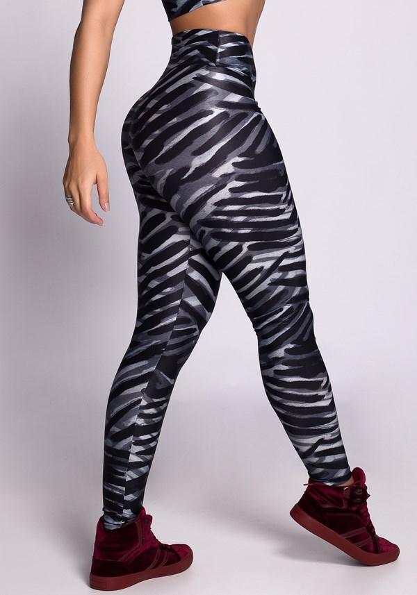 Calça legging poliamida glow stripes