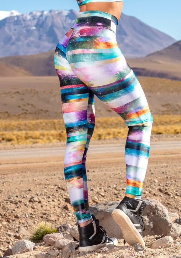 Calça legging poliamida glow universe