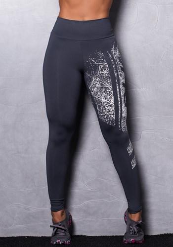 Calça legging poliamida grafite silk dlk