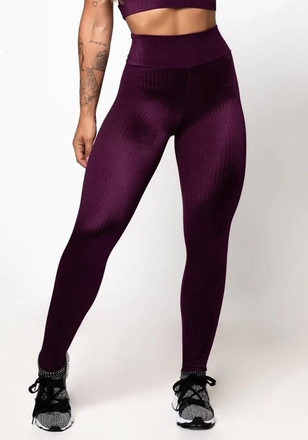 Calça legging poliamida malbec luxe frequency