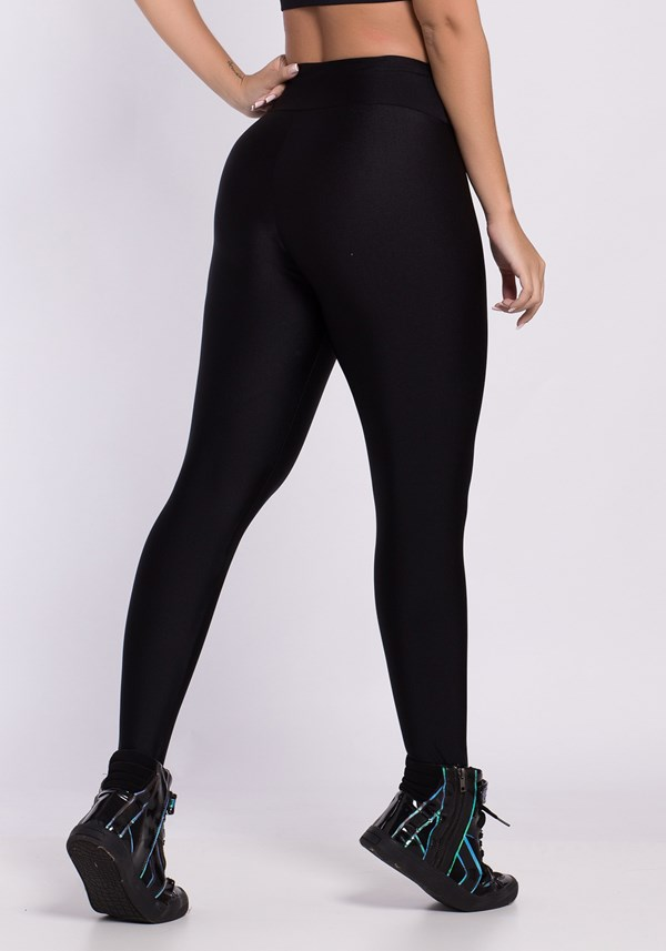 Calça legging poliamida metal all black