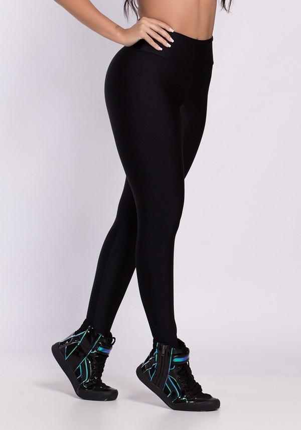 Calça legging poliamida metal preta