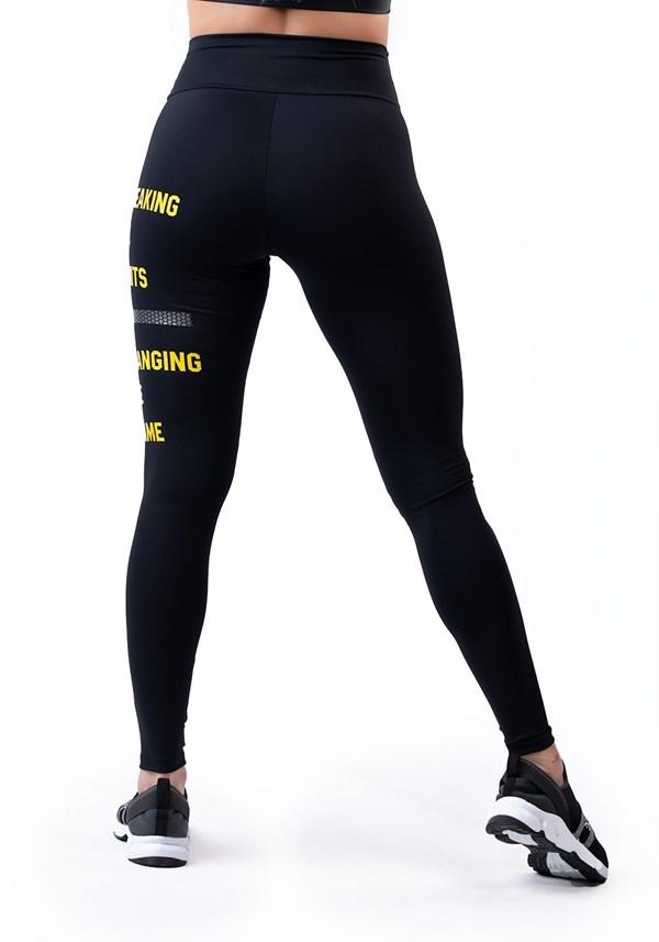 Calça legging poliamida preta com silk crssft