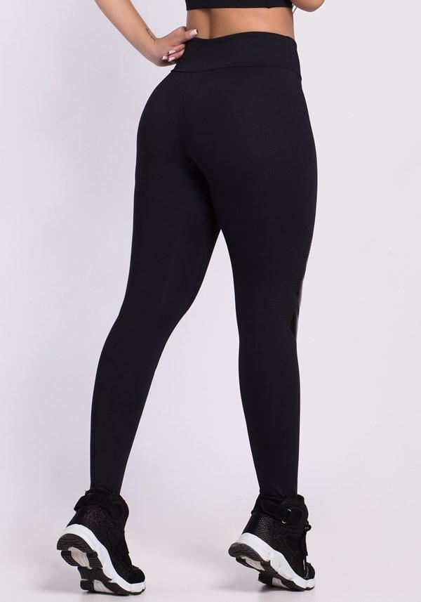 Calça legging poliamida preta lines