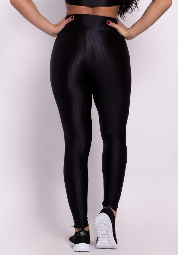 Calça legging poliamida preta luxe