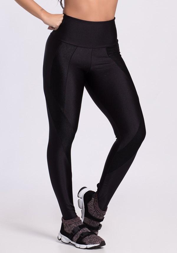 Produto Calça legging poliamida shine preta