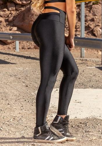 Calça legging poliamida shine tiras