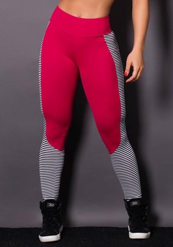 Calça legging poliamida stripes amorinha