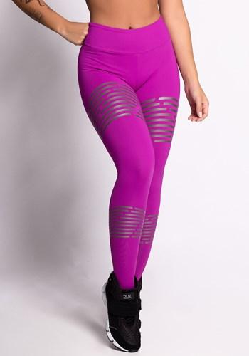 Calça legging poliamida tonic com silk grafite