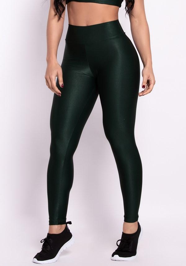 Calça legging poliamida verde shine