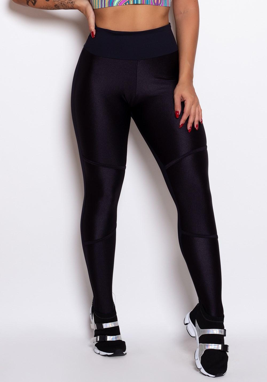 d0048a475 Calça legging preta com datalhes em cirrê - DlkModas