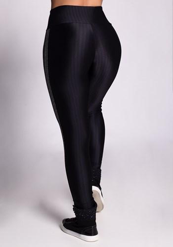 Calça legging preta frequency com elastico shine