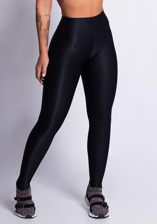 b79b057ce Calça legging preta poliamida texturizado shine - DlkModas
