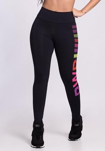 Calça legging preta power color