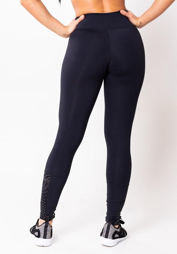 Calça legging preta refletiva