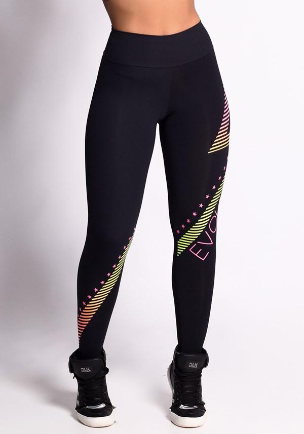 Calça legging preta silk evolution