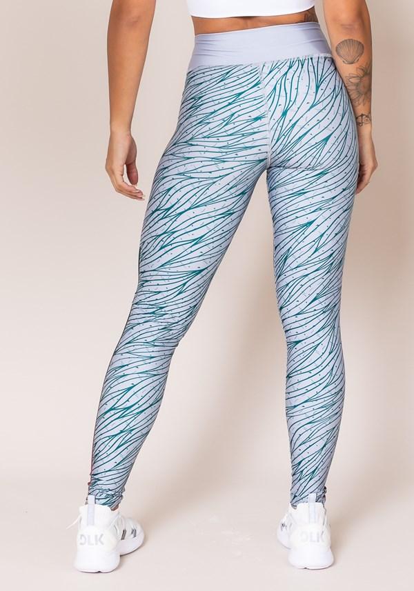 Calça legging printed azul estampado
