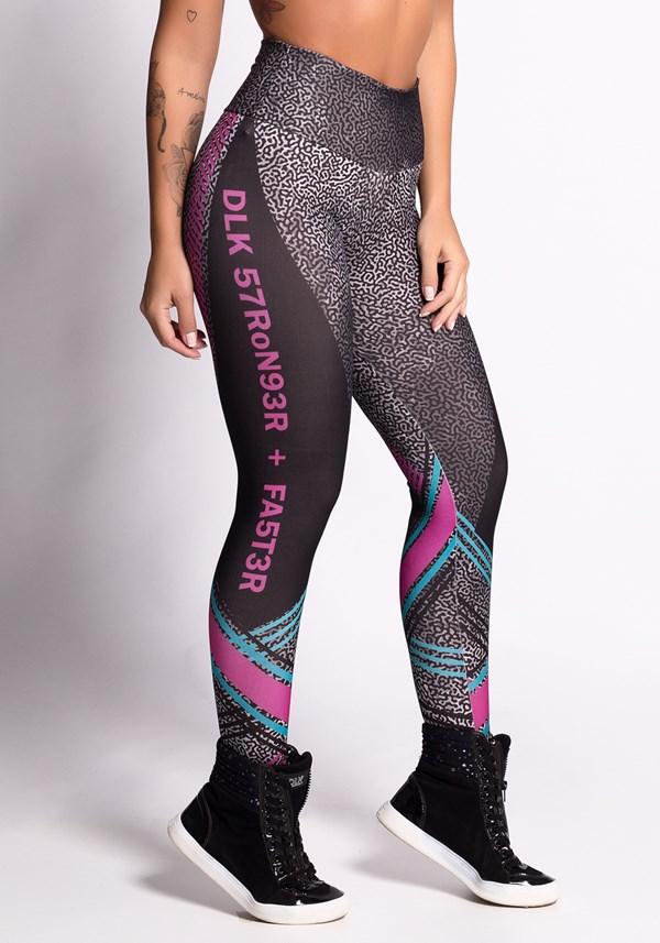 Calça legging printed dlk stronger