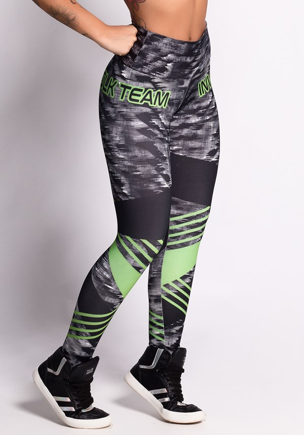 Calça legging printed dlk team