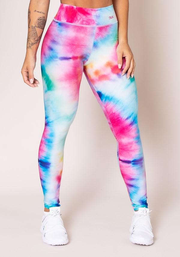 Produto Calça legging printed tie dye espiral