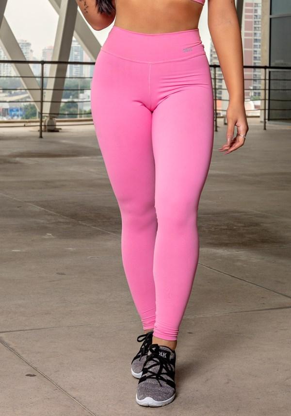 Calça legging rosa chiclete básica