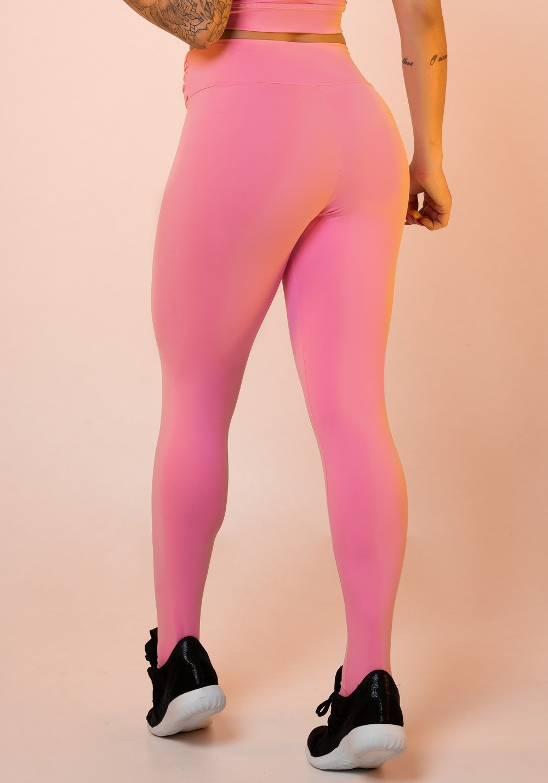 f1b44ec3a Calça legging rosa chiclete nó frontal básica  Calça legging rosa chiclete nó  frontal ...