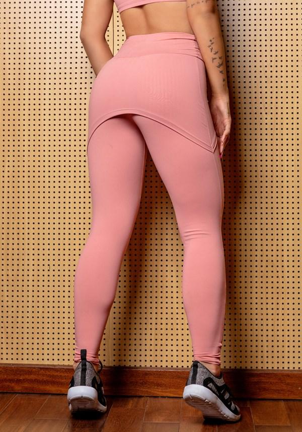 Calça legging rosê com tapa bumbum básica