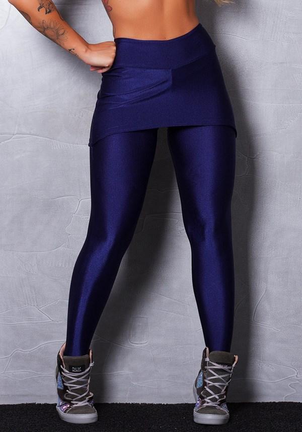 Calça legging shine blue com tapa bumbum