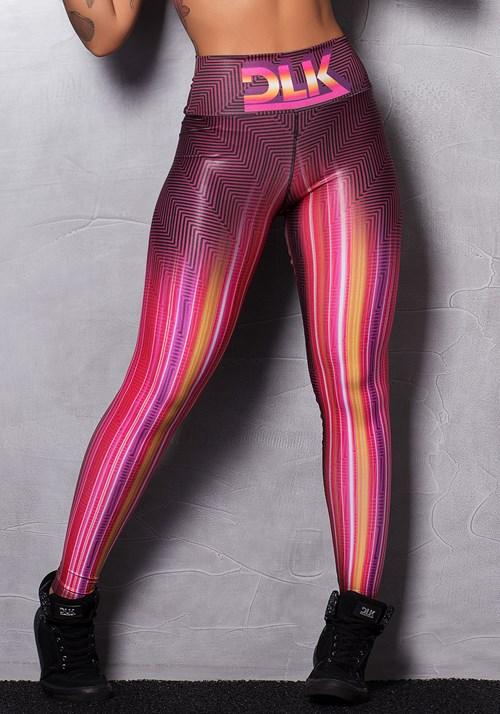 Calça legging shine colorful