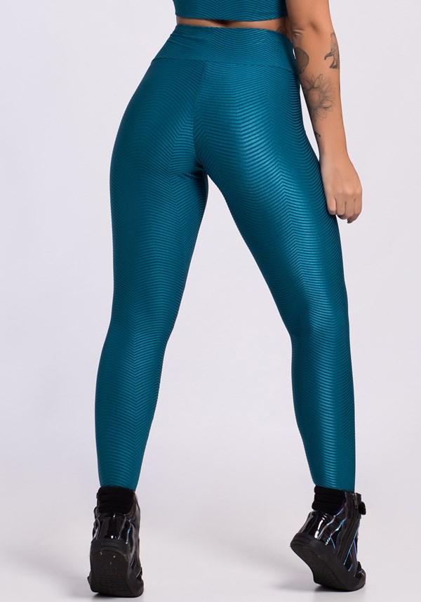 Calça legging shine curves green