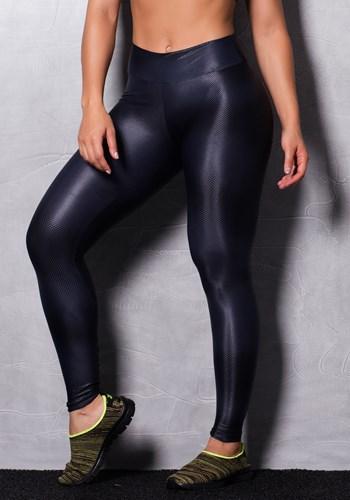 Calça legging shine grey cirrê estampada