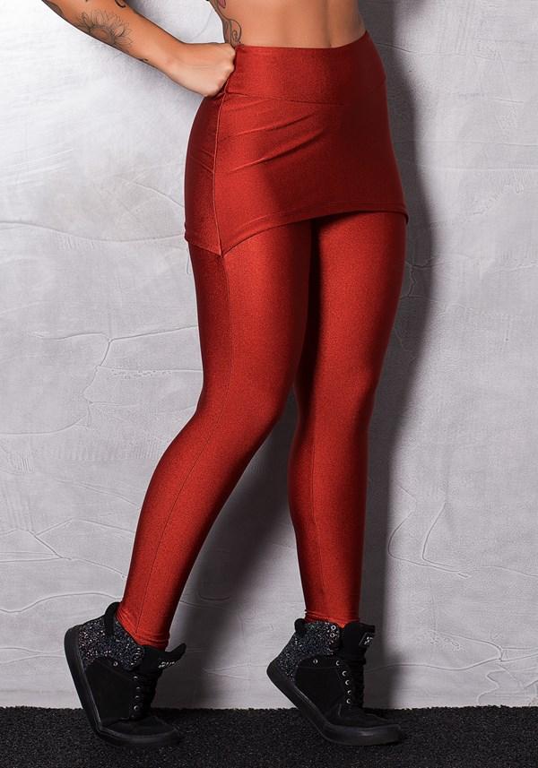 Calça legging shine red beach com tapa bumbum