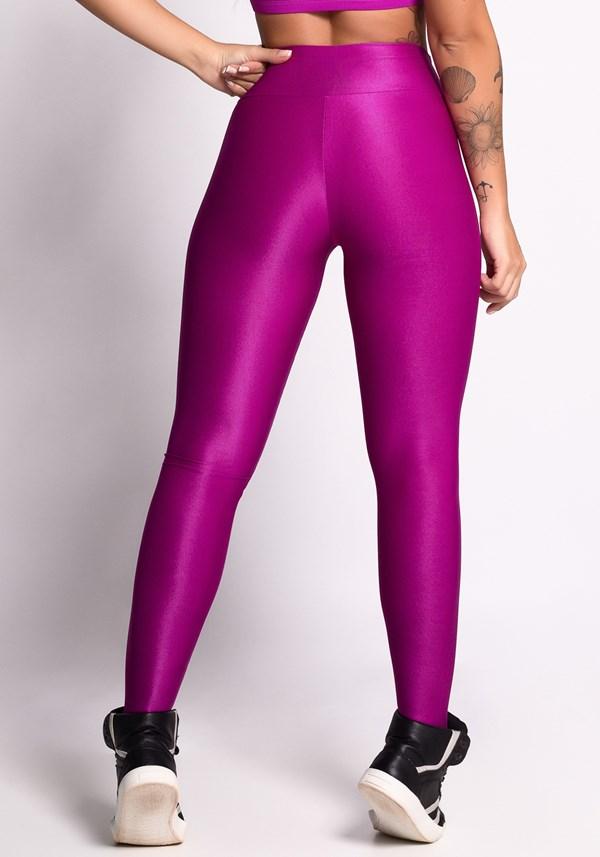 Calça legging  shine texturizado tonic