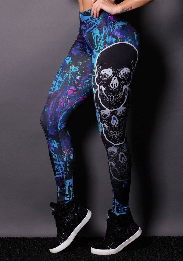 Calça legging skull purple
