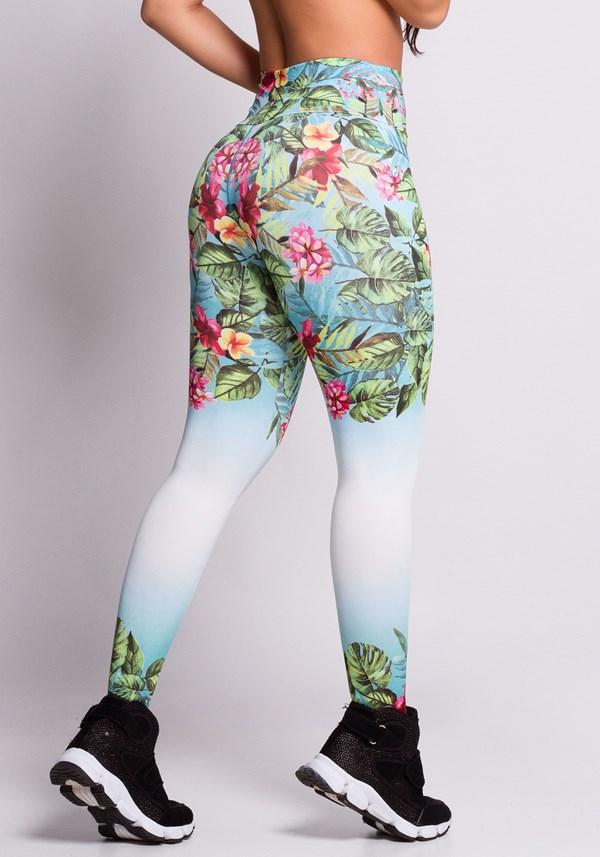 Calça legging soft flowers