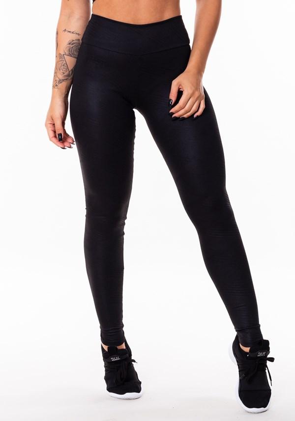 Calça legging soundy glossy preta