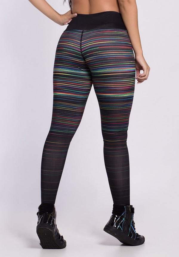 Calça legging sublimada dlk colorful