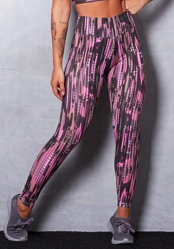 Calça legging suplex estampada black spots