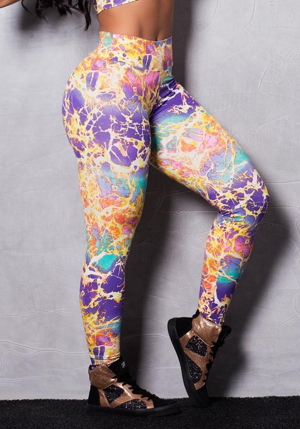 Calça legging suplex estampada colors