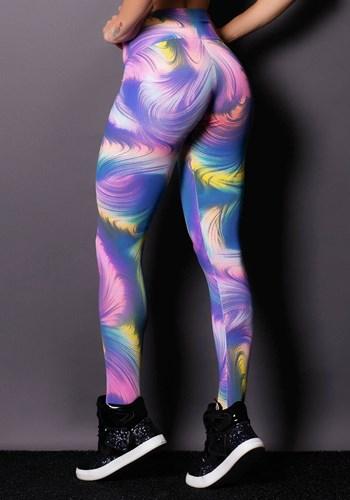 Calça legging suplex estampada colours