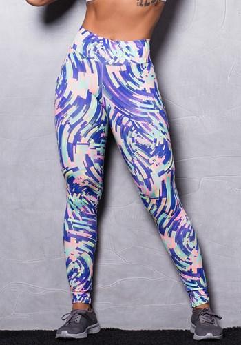 Calça legging suplex estampado purple