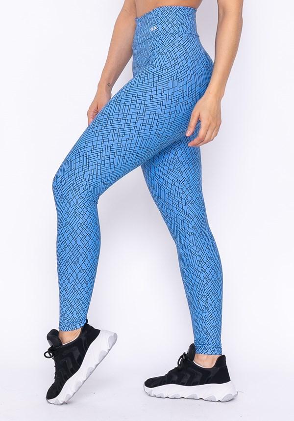 Calça legging technology básica estampa azul
