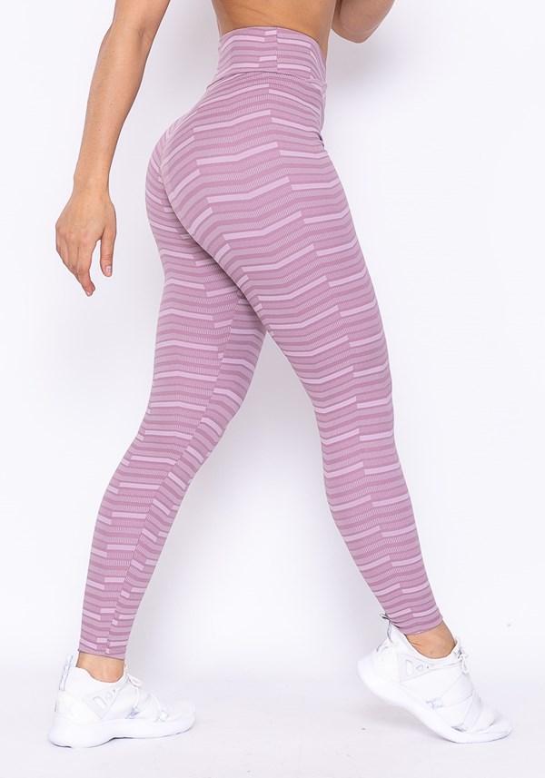 Calça legging technology cós transpassado zig zag lilás