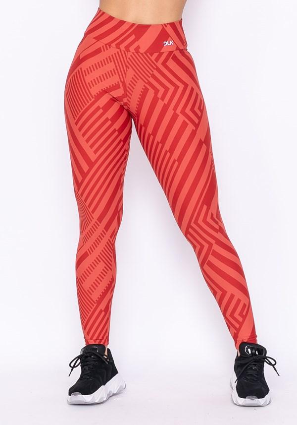 Calça legging technology estampada laranja