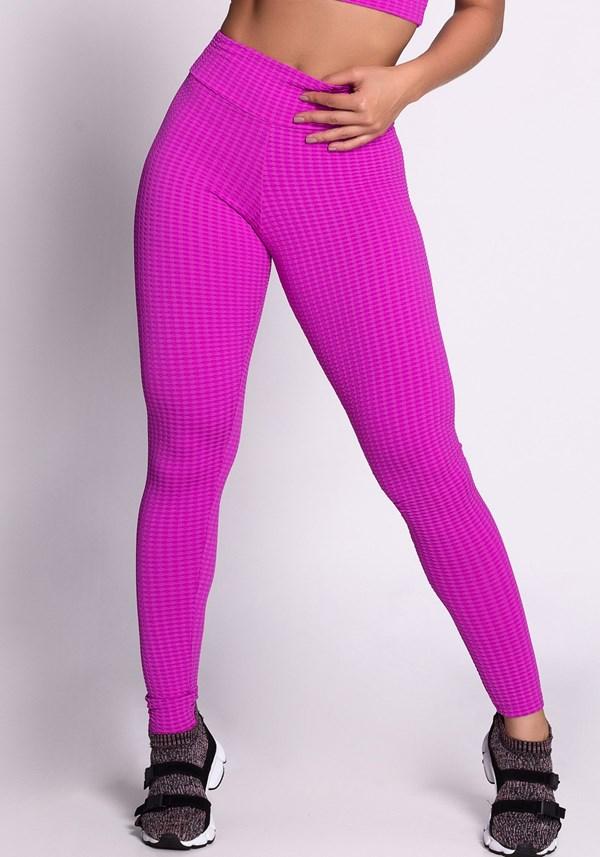 Calça legging texturizada pink