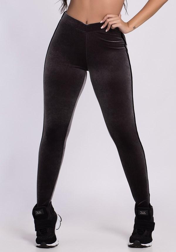 Calça legging veludo cinza