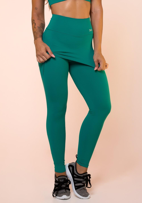 Calça legging verde com tapa bumbum básica