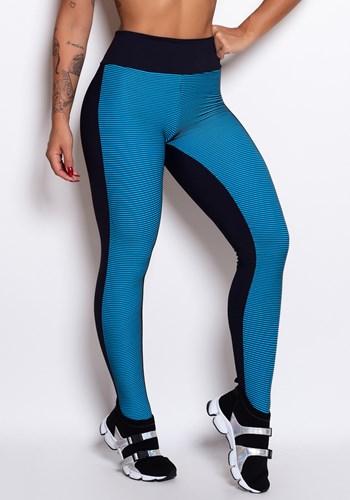 Calça poliamida azul e preto  3d